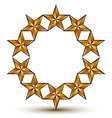 3d classic royal symbol sophisticated golden round vector image vector image