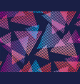abstract tropical color geometric pattern vector image