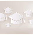 Academic cap icon Study hat symbol vector image