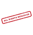 All Rights Reserved Text Rubber Stamp vector image vector image