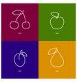 AppleCherryPlumPear vector image vector image