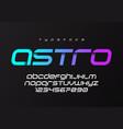 astro futuristic minimalist display font design vector image