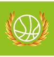 basketball sport olympic blue badge vector image vector image