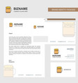 beer business letterhead envelope and visiting vector image vector image
