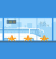 bus station vector image