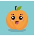 cartoon orange fruit facial expression design vector image vector image
