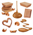 chocolate in tile shavings vector image vector image