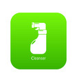 cleaning spray icon green vector image