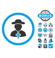 Clergy Flat Icon with Bonus vector image vector image