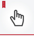 clicker icon in modern style for web site and vector image vector image