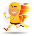 comic fast running superhero vector image