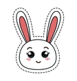 cute rabbit kawaii character vector image vector image