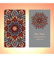 decorative card vintage one vector image vector image