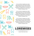 dental poster design with colorful icons vector image vector image
