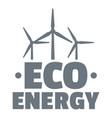 eco energy logo simple gray style vector image vector image