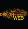 establish your web with different web design text vector image vector image