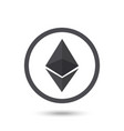 ethereum symbol chrystal vector image vector image