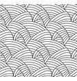 floral background drawn lines vector image vector image