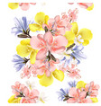 flower seamless pattern with flowers vector image vector image