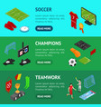 football or soccer game banner horizontal set vector image vector image