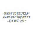funky latin font or childish english alphabet vector image vector image