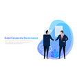 good corporate governance business team agree on vector image vector image