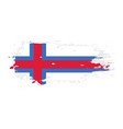 grunge brush stroke with faeroe islands national vector image vector image