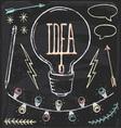 Hand Drawn Chalk Idea Set vector image