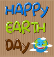 happy earth day template vector image