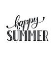 happy summer wording vector image vector image