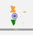 india map flag vector image