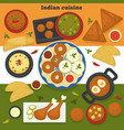 indian cuisine meat and bakery products india food vector image vector image