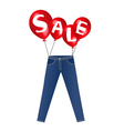 Jeans sale vector image vector image
