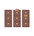 library card catalog flat old document storage vector image vector image