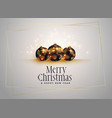 lovely christmas balls with golden sparkles vector image vector image