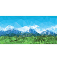 Mountain landscape background with low poly design vector image