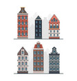 old buildings antique european constructions vector image vector image