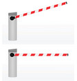 open and closed barrier vector image vector image
