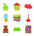 orphan house icons set cartoon style vector image vector image