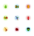 Paintball club icons set pop-art style vector image vector image