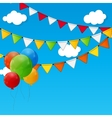 Party Flag Background EPS 10 vector image vector image