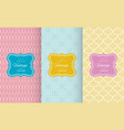 pastel retro different seamless patterns vector image vector image