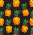 pineapples seamless patter8 vector image vector image