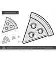 Pizza slice line icon vector image vector image