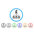 pound bank scheme rounded icon vector image vector image