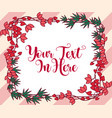 romantic floral frame decoration design vector image vector image