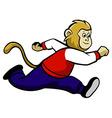 Running Monkey vector image vector image