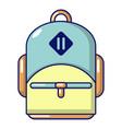 schoolbag icon cartoon style vector image vector image