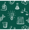 Science Icons Sketch vector image