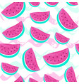 seamless watermelon pattern isolated on hand drawn vector image vector image